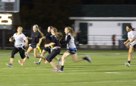 Girls get competitive in powder puff