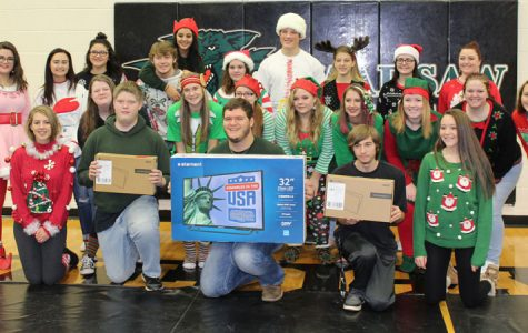 Christmas assembly promotes good attendance with prizes