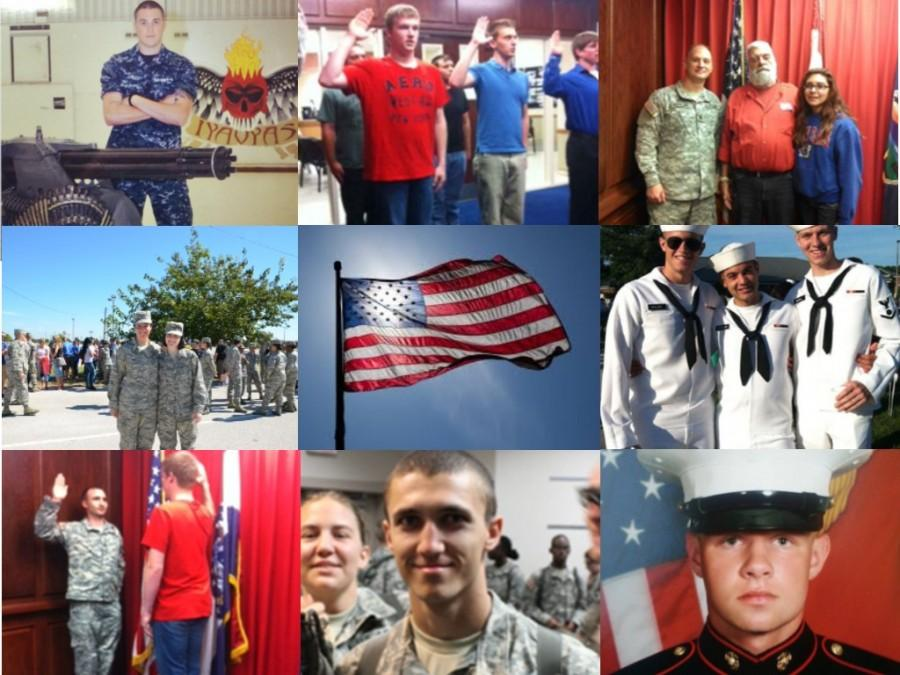 Students honor military service