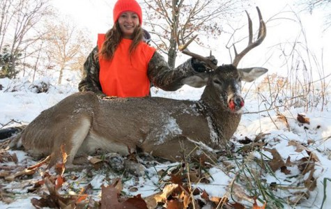 Sophomore Brennan Bell and her buck.