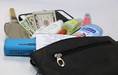 Top 10 prom purse musts: money, perfume, deodorant, lip gloss, gum/mints, phone, phone charger, eyelash glue, hand sanitizer and mascara. Source: The Wildcat staff