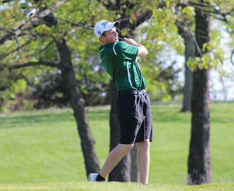 """Senior Even Engebresten placed 37 at the State Golf Tournament. """"I was kind of disappointed with my place, but I was glad I got to go compete at state for my senior year,"""" said Engebresten."""