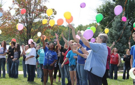 Students, family, and friends attends the balloon release. The balloon release was held on Sunday Sept. 19 at the harbor.