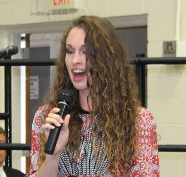 Senior Rickie Branson sings at baccalaureate. Senior Rickie Branson was chose earlier in the year as an All-State soprano.