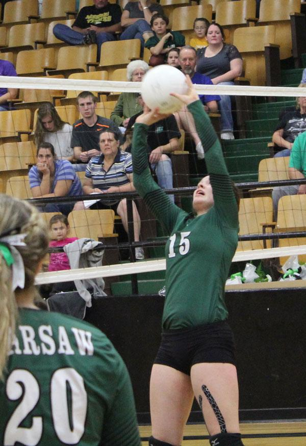 Senior Taylor Goetz signed with Central Methodist University to play volleyball.