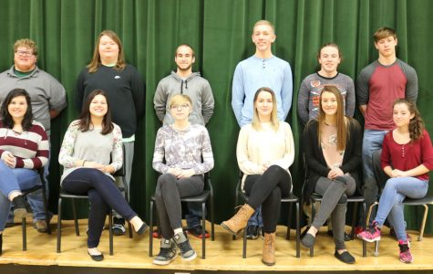 The 2018 Echoes Ball candidates are ready to celebrate at the Saturday, March 10 dance from 8 to 11 p.m. Candidates include (back row) seniors Logan Neth, King Archer, Eric Meldrum, juniors Jesse Johnson, Chance Thirstrup and Maleek Porter; (front row) seniors Kylee Myers, Zoe Eledge and Molly Baumhoff and juniors Ally Estes, Suzy Cortright and Autumn Long.