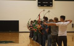 Archery team practices for competition