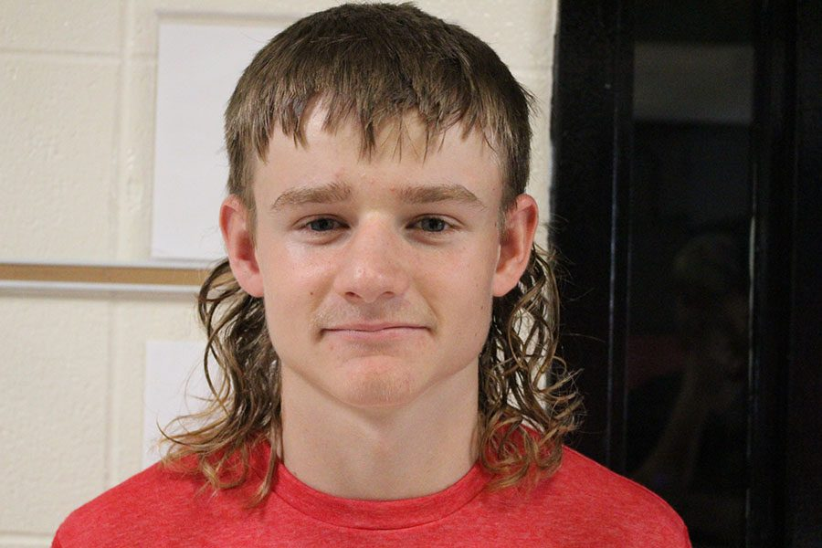 """Freshman Tyler Bone sports his mullet at school. Bone said the mullet is popular amongst """"country boys."""" ."""