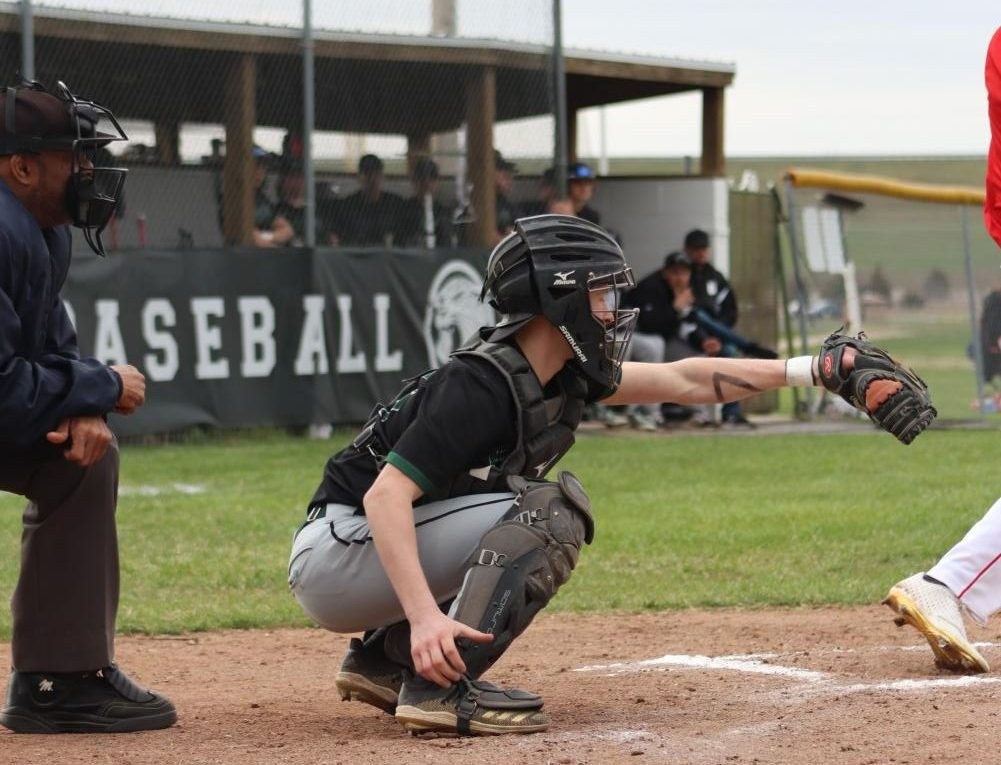 Sophomore catcher Nick Bagley plays in the Buffalo game on March 30.