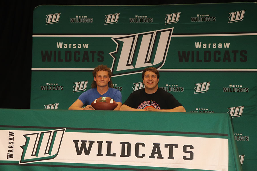 Trevor Coon and Kolton Krueger accepted scholarships to play football for Missouri Valley College.