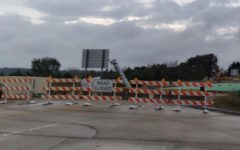 The Wildcat Drive bridge is one of two bridges currently under construction. The bridge construction was scheduled from June 14 to December 1.